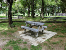 Granite Picnic Table and Benches Stock Photo