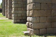 Granite Pillars of Los Milagros Aqueduct. Roman Aqueduct of Merida Los Milagros. Extremadura, Spain Royalty Free Stock Photography