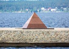 Granite pyramid Royalty Free Stock Photography