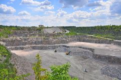 Granite quarries. Stock Images