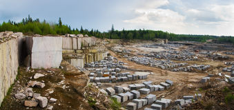Granite quarry. View on quarry for the extraction of granite Royalty Free Stock Photo