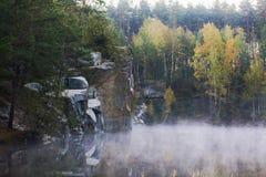 Granite quarry royalty free stock images