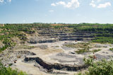 Granite quarry. Image of a granite rock quarry royalty free stock photography