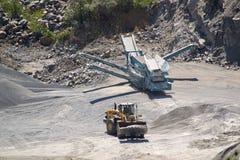 Granite quarry. Image of a granite rock quarry Stock Image