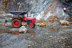 granite quarry. Kerala, India. Royalty Free Stock Image