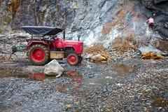 granite quarry. Kerala, India. Royalty Free Stock Image