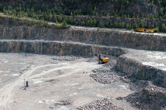 Granite quarry Stock Image