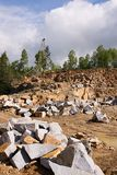 Granite quarry mining Stock Images