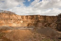 Granite quarry mining Stock Photography