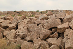 Granite Quarry Slag Pile Stock Image