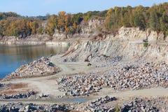 Granite quarry Stock Photos