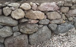 Granite retaining wall Royalty Free Stock Images