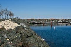 Granite Rock Breakwater Royalty Free Stock Image
