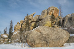 Granite rock formation in Vedauwoo Recreation Area Royalty Free Stock Photography