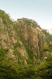 Granite rock formations of huangshan mountain Royalty Free Stock Photos