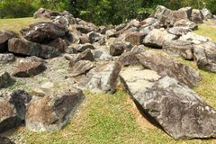 Granite Rock formations. Interesting granite Rock formations upclose. Between rocks there are vegetation Stock Photos