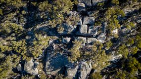 Granite rock formations in Stanthorpe, Queensland, Australia royalty free stock images