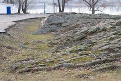 Free Granite Rock On The Banks Of Kremenchuk Reservoir Stock Image - 212866911