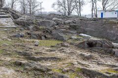 Free Granite Rock On The Banks Of Kremenchuk Reservoir Stock Image - 212867091