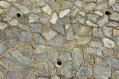 Granite Rock Retaining Wall Stock Images