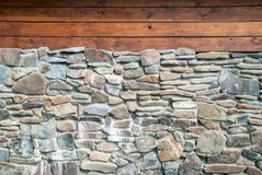 Granite Rock Stone Brick Wall Background.  royalty free stock images