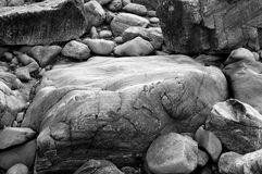 Granite rocks. Abstract image of granite rocks weathered by water Royalty Free Stock Image