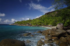 Granite rocks at Anse Major, Seychelles Royalty Free Stock Image
