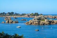 Granite Rocks At French Sea Coast Royalty Free Stock Photography