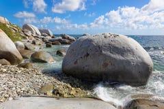 Granite rocks in The Baths Virgin Gorda, British Virgin Island (BVI) Royalty Free Stock Photography