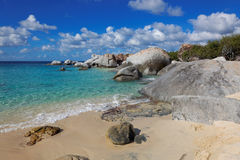 Granite rocks in The Baths Virgin Gorda, British Virgin Island, Caribbean. Granite rocks in The Baths Virgin Gorda, British Virgin Island (BVI), Caribbean Stock Photography
