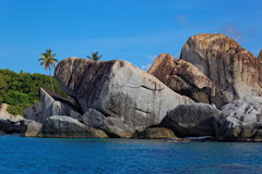 Granite rocks in The Baths Virgin Gorda, British Virgin Island (BVI) Royalty Free Stock Photo