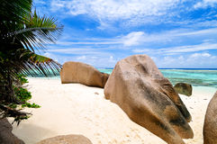 Granite rocks on the beach Royalty Free Stock Photo