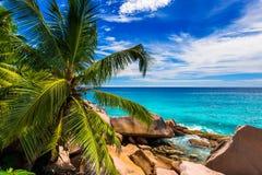 Granite rocks on the beach. The Seychelles Royalty Free Stock Photos