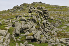 Granite rocks of Belstone Tor Royalty Free Stock Photography