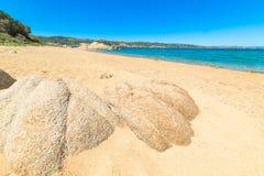 Granite rocks in Cala dei Ginepri Royalty Free Stock Image