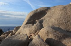 Granite rocks, Capo testa Royalty Free Stock Photography