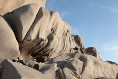 Granite rocks, Capo testa Royalty Free Stock Photo