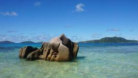 Granite rocks onla digue Royalty Free Stock Photography
