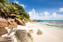 Granite rocks of Praslin Royalty Free Stock Image