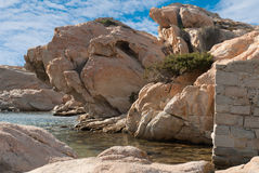 Granite rocks in Sardinia Royalty Free Stock Photography
