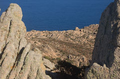Granite rocks. Sardinian granite and earth reign of the wild Stock Images