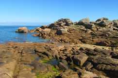 Granite rocks at the sea coast Stock Photography
