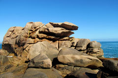 Granite rocks at seaside royalty free stock images