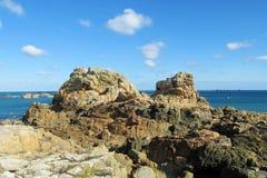 Granite rocks at seaside royalty free stock photos