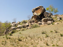 Granite rocks in the steppe Stock Images