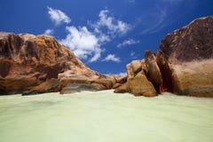 Granite rocks in the water Stock Photo