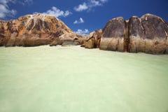 Granite rocks in the water stock images