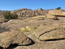 Granite rocks. Weathered granite boulders in Wyoming desert of America stock photography