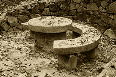 Granite round table Royalty Free Stock Photography