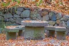 Granite round table Royalty Free Stock Image